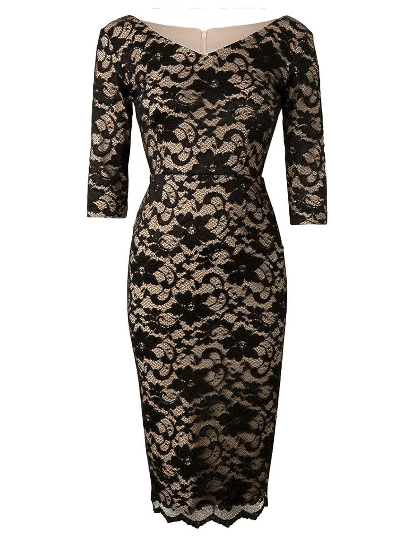 GownTown Womens dresses 50s Vintage Dresses Graphic-Lace Sheath Dresses