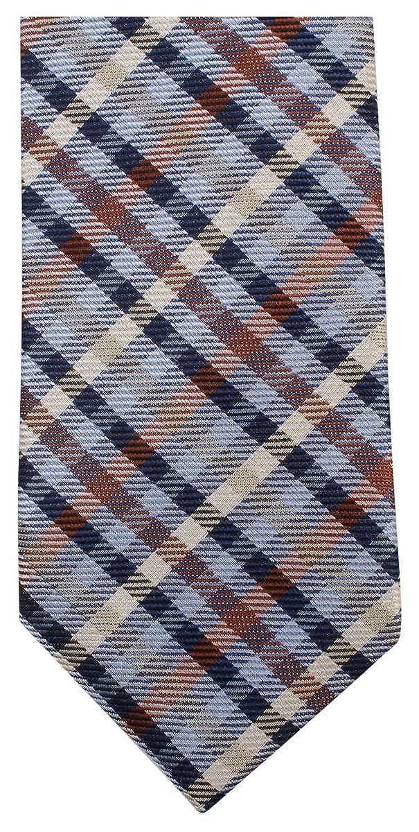 Knightsbridge Neckwear Mens Tartan Woven Tie Brown//Blue//Yellow