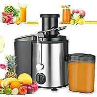 mewmewcat Licuadoras para Verduras y Frutas, 800 W Extractor de Jugos 2 Velocidades Ajustables, Licuadoras para Zumos…