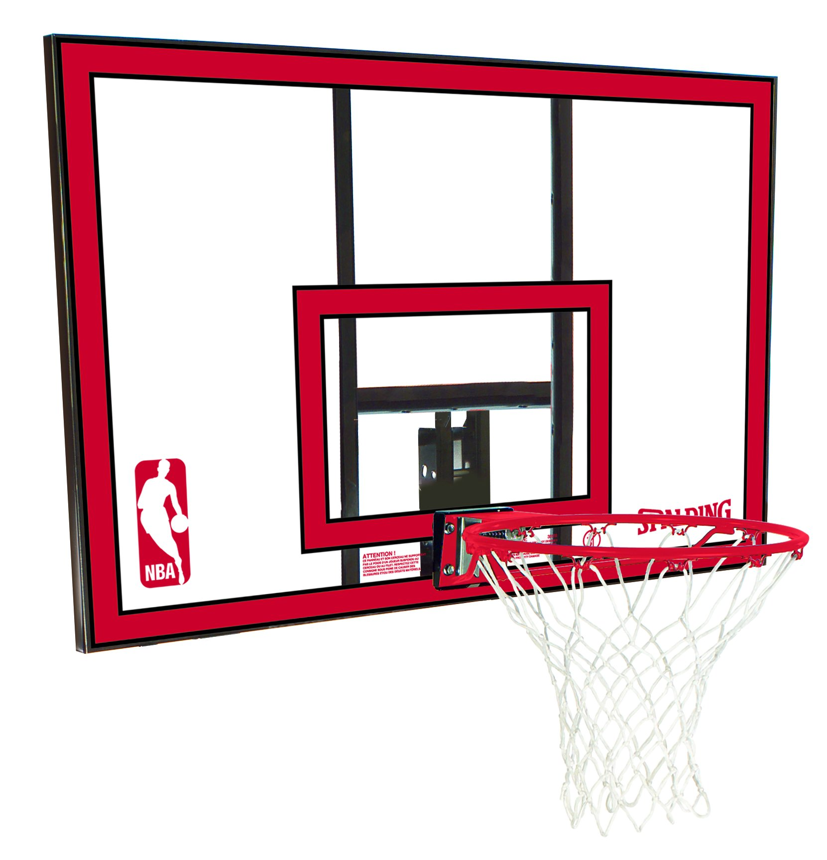 Spalding NBA Backboard/Rim Combo - 44'' Polycarbonate Backboard