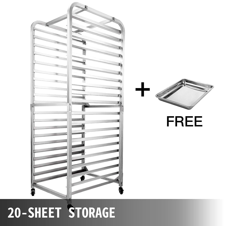 BestEquip Bun Pan Rack Bakery Rack 20-Tier 26Lx20Wx69H Aluminum Commercial /& Home Kitchen Cooling Rack