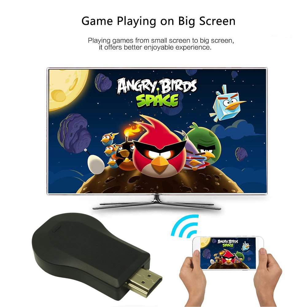 COFEND Wireless HDMI Screen Mirror Dongle WiFi Display TV Dongle Receiver 1080P For iOS Android Windows Mac OSX Support Airplay Miracast DLNA Google Home and Chrome App Cast (Square) by COFEND (Image #4)