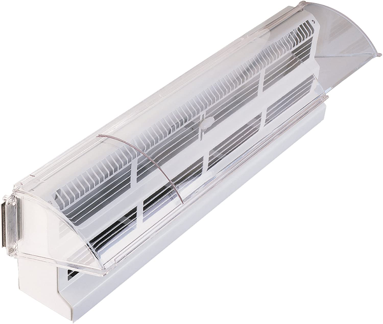 """Deflecto Adjustable Air Deflector Baseboard, 15"""" x 25"""" (53)"""