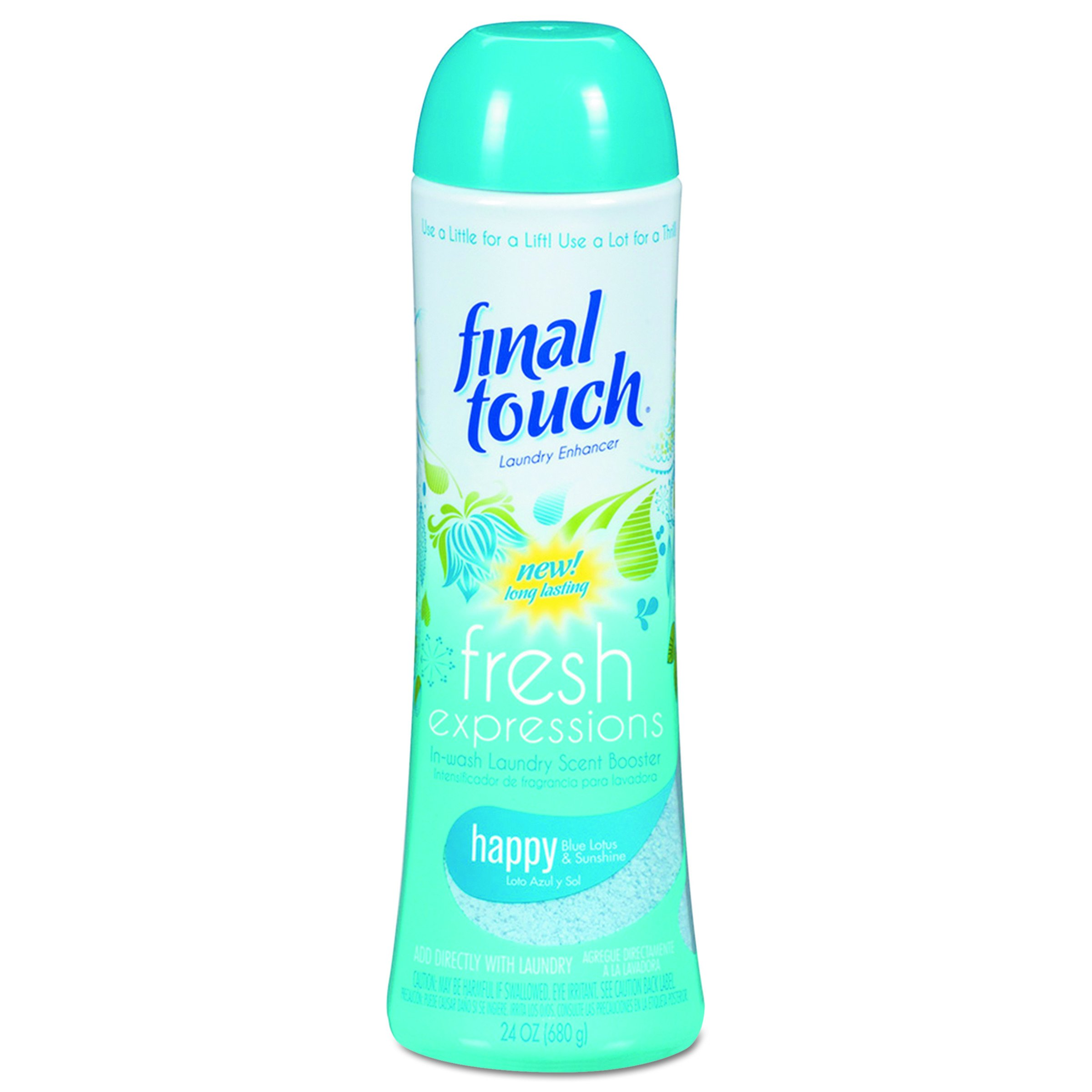Final Touch 58221CT Fresh Expressions In-Wash Laundry Scent Booster, 24 oz, Powder, Blue Lotus (Case of 6)