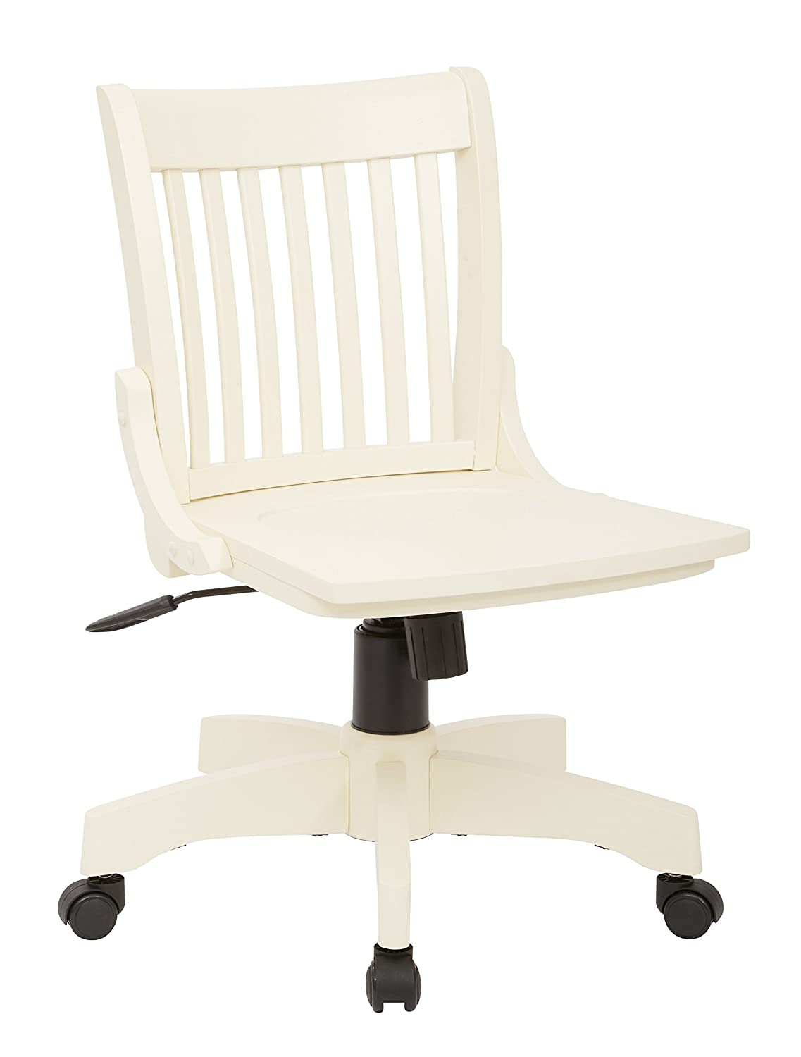 Armless bankers chair - Amazon Com Office Star Deluxe Armless Wood Bankers Desk Chair With Wood Seat Fruit Wood Kitchen Dining
