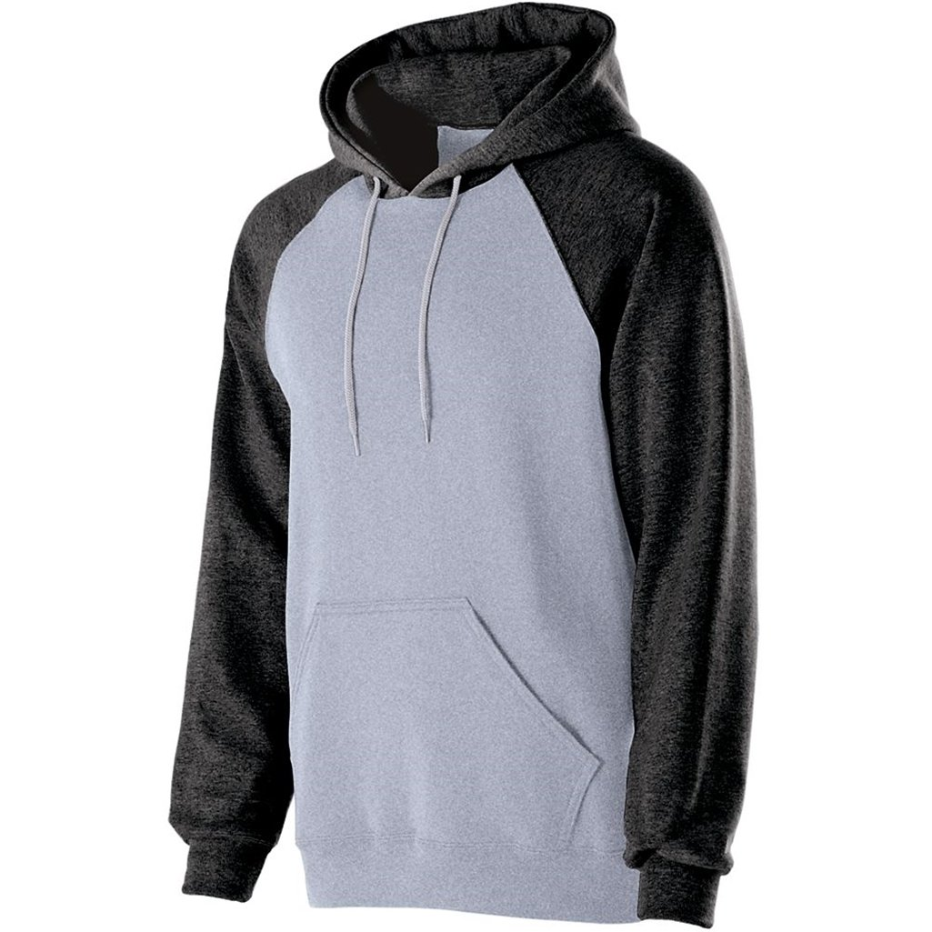 Holloway Adult Banner Hoodie (Small, Athletic Heather/Black) by Holloway
