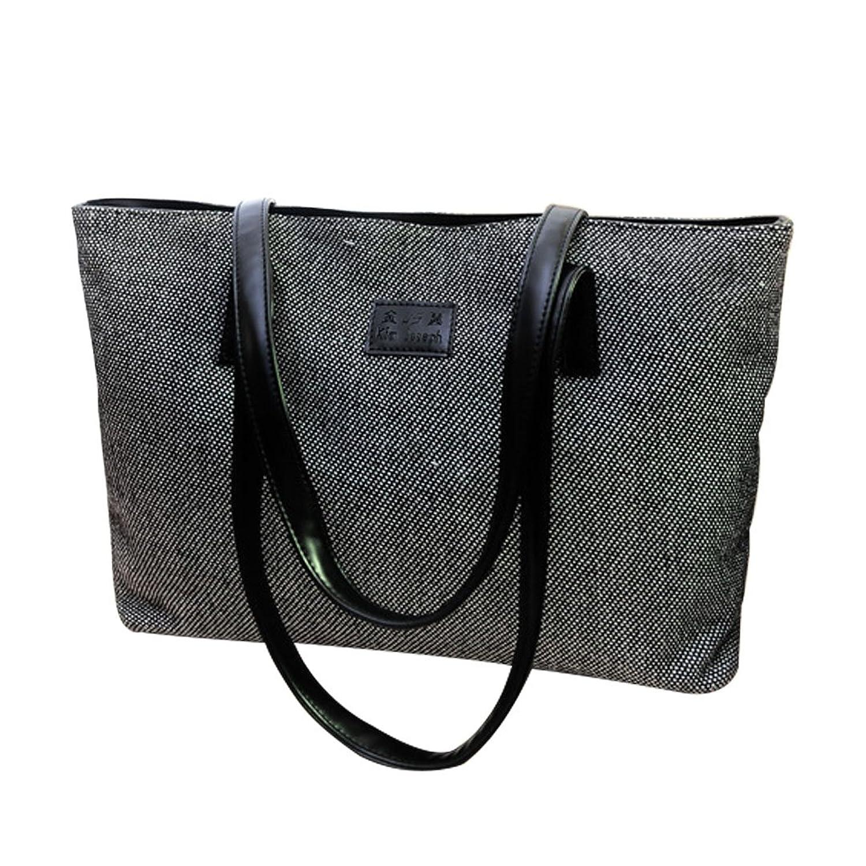 Naimo Women's Simple Canvas Handbag Shoulder Tote with PU Strap