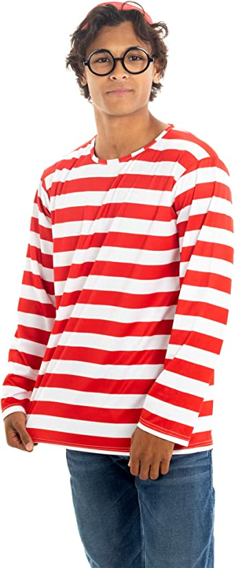 Where's Wally Halloween Costume - Where's Wally Men's Cosplay Outfit