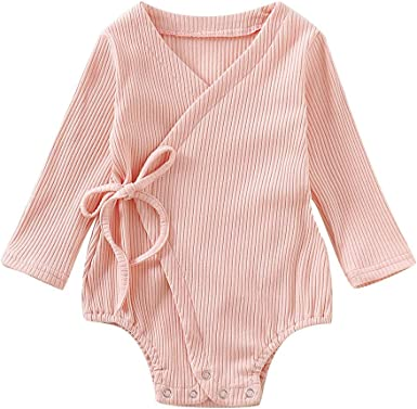 Girl Romper Top Long Sleeve Outfit Newborn Baby 1pc Wool Knitting Cotton Fashion