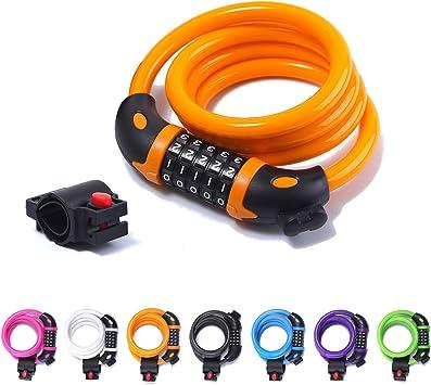 Renzer Candado Bicicleta Candado Bici Combinacion Cable Candado ...