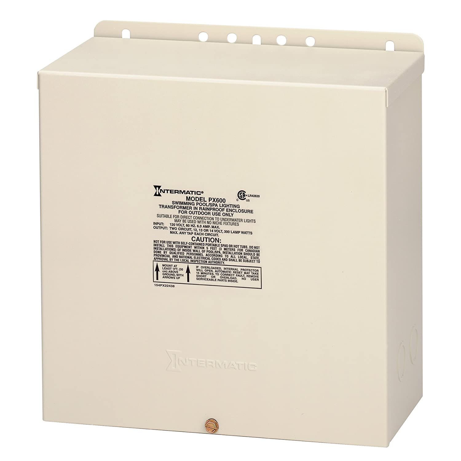 Intermatic PX600 Pool Light 600 Watt Safety Transformer Beige