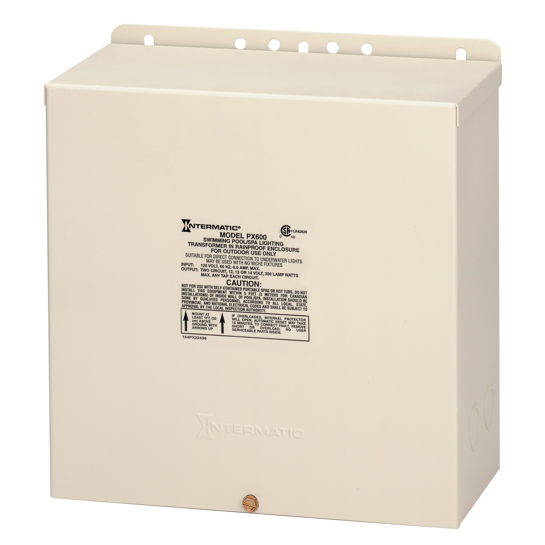 Intermatic PX600 Pool Light 600-Watt Safety Transformer, Beige
