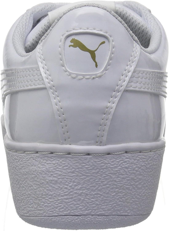 puma vikky platform patent white