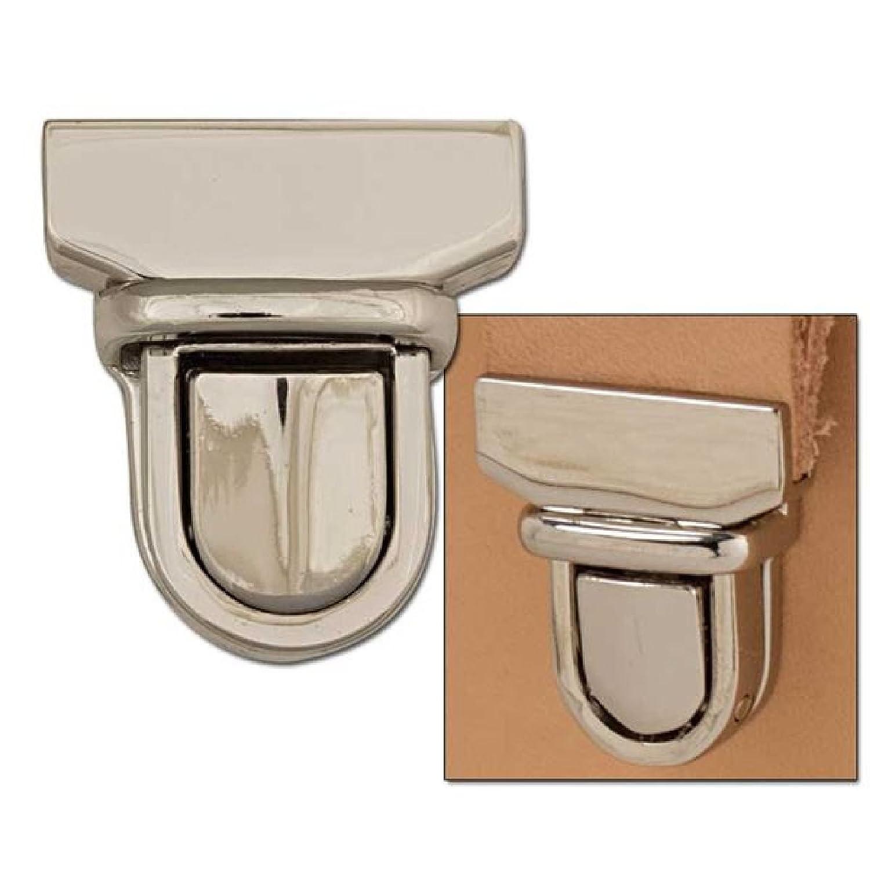 Medium Nickel Plated Tuck Lock Bag Clasp by Tandy Leather B00VA6F0N0