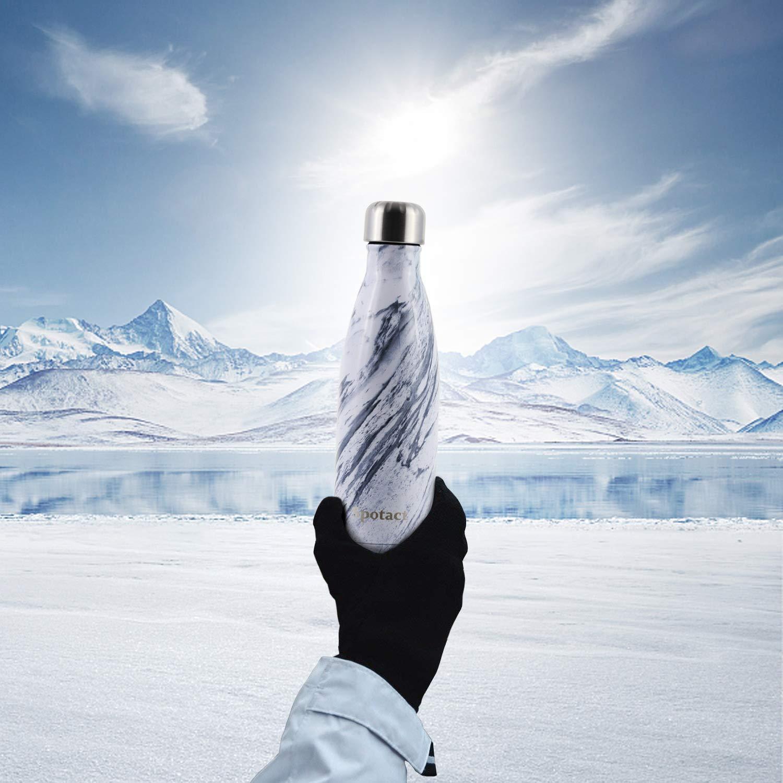 Vakuumgetr/änkflasche SPOTACT Zweischichtiger Edelstahl Thermosflasche Kein BPA Wiederverwendbare Wasserflasche Kein Schwei/ß