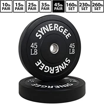 Rep Bumper Plates for Strength and Conditioning Workouts and Weightlifting 10 lb Pair
