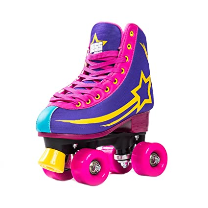 Inline-Skates Hudora Rollschuhe Disco-Roller verstellbar Unisex Größe 21 bis 31 Kinder