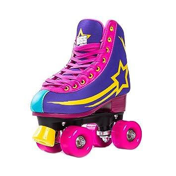 Bliss Roller Skates Quad - Rockstar Edition Rollerskates Tamaño 33-40 - Patines en la parte superior / exterior para niños y adultos (38): Amazon.es: ...