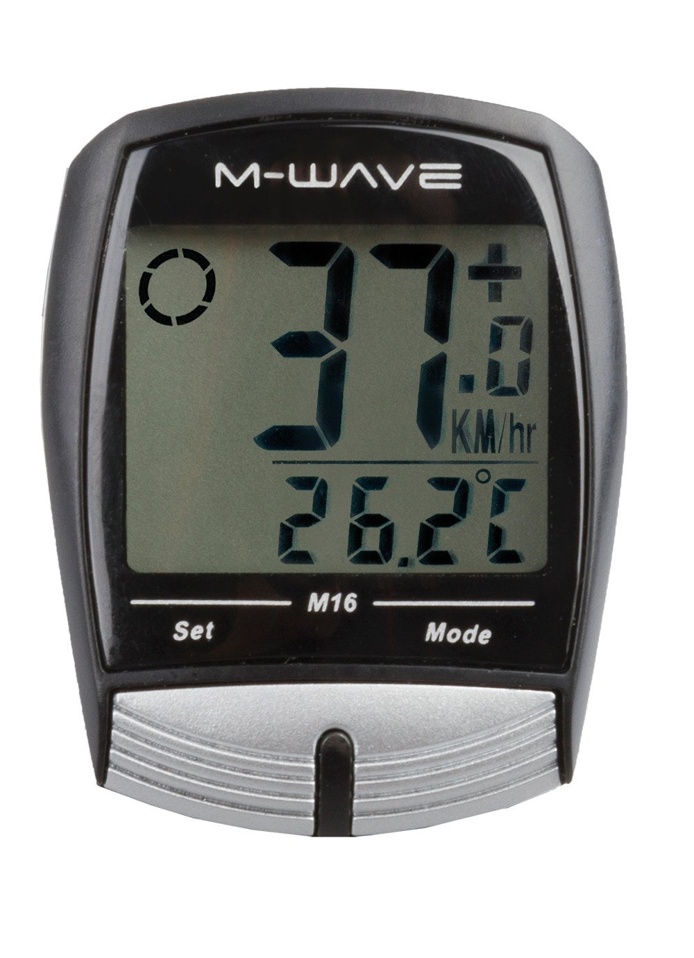 M-Wave M16 Velocímetro con Cable, Unisex Adulto, Negro, Única 244733