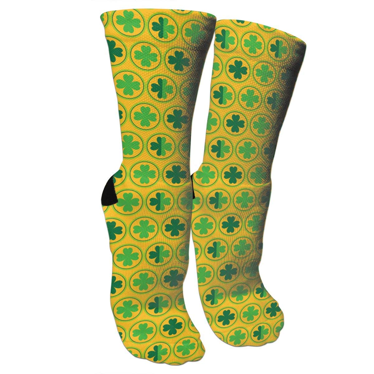 Patricks Day Crazy Socks Casual Cotton Crew Socks Cute Funny Sock great for sports and hiking Happy St