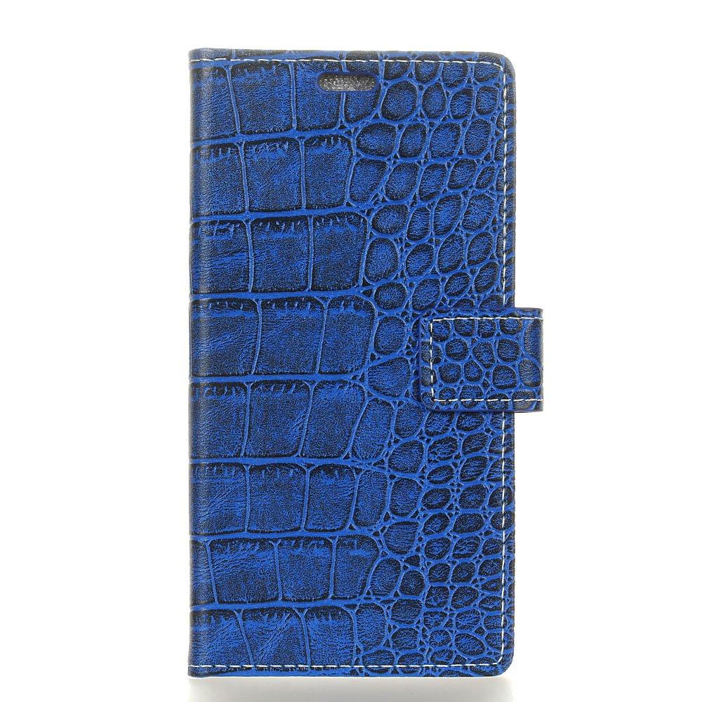 Huawei Mate 20 Lite Coque, Modèle Crocodile Magnetic Clasp PU Cuir Flip Housse Étui Cover Case Protection Portefeuille Mince à Rabat Flip Cover avec Porte-carte Stand pour Huawei Mate 20 Lite (marron) leiai