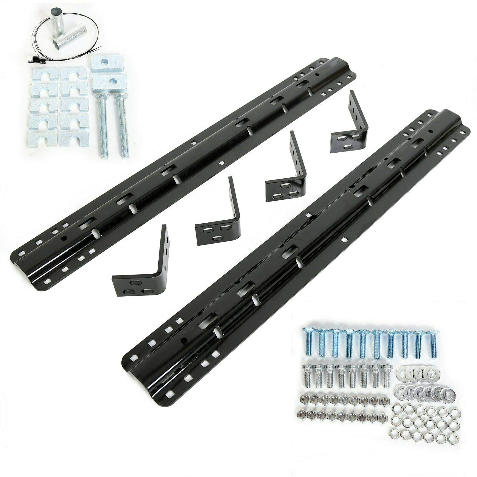 Onemoto 20K 5th Fifth Wheel Mounting Rail Kit Trailer Hitch Mount Fit Reese Pro Series by Onemoto