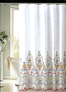 ENVOGUE Gloria Multicolored Paisley Medallion Fabric Shower Curtain