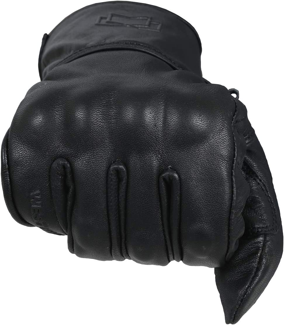 WFX Premium Leather Best Knuckle Protection Motorcycle Gloves Street Bike 2-XLarge