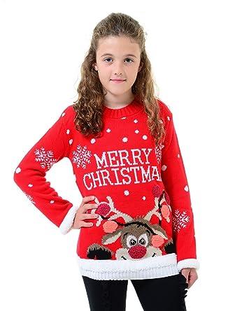 18019f62d42 Momo&Ayat Fashions Kids Girls Boys 'A Very Merry Christmas' Xmas Jumper Age  3-12 Years