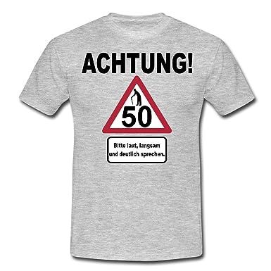Spreadshirt 50 Geburtstag Verkehrsschild Achtung Langsam Sprechen