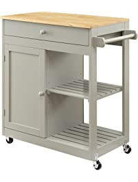 oliver and smith nashville collection mobile kitchen island cart on wheels wooden grey