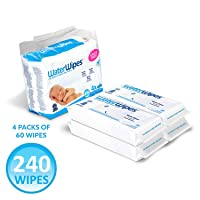 Deals on 4-Pk WaterWipes Unscented Baby Wipes Sensitive and Newborn Skin