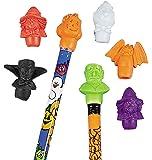 Fun Express Halloween Pencil Top Erasers Party Favors - 12 Dozen