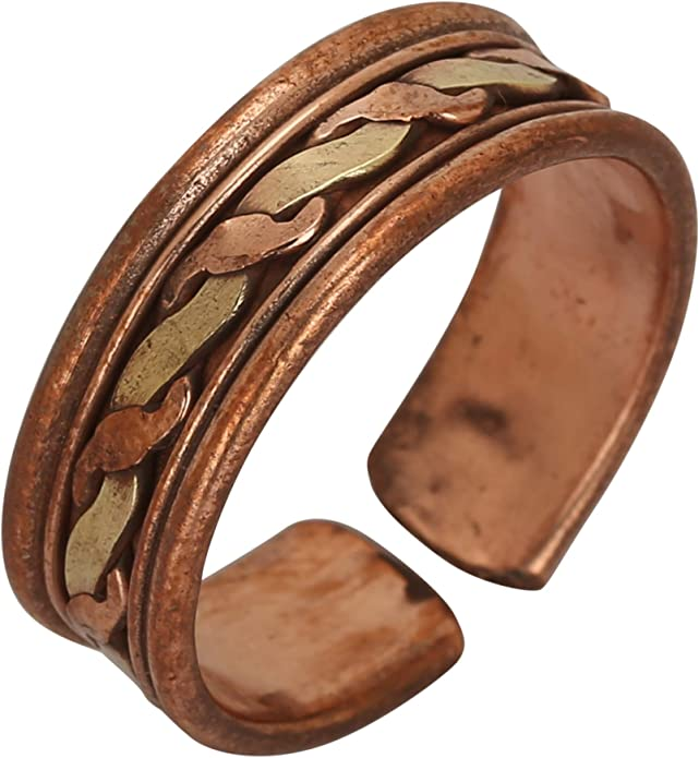 Her iCraftJewel Pure Copper Ring Bio Healing Pain Reliever Adjustable Thumb Ring Gift Item for His