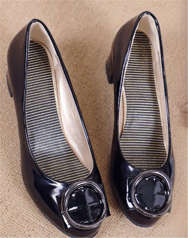 Cyy@Espadrilles/Donna/Scarpe Slip On Flats/Basse Casuali Scarpe/Casuali ScarpeTacco medio, scarpe scarpe scarpe basse, tacco largo, tacco largo, nero, 37 black 1e7f69