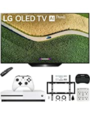 "$1499 » LG OLED55B9PUA B9 55"" 4K HDR Smart OLED TV with AI ThinQ (2019) Bundle with Microsoft Xbox One S 1TB Console, Flat Wall Mount Kit, Wireless Keyboard, and 6-Outlet Surge Adapter with Night Light"
