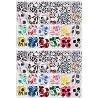 STOBOK 210pcs menean ojos saltones ojos vac/íos redondos autoadhesivos para decoraciones de manualidades de scrapbooking diy