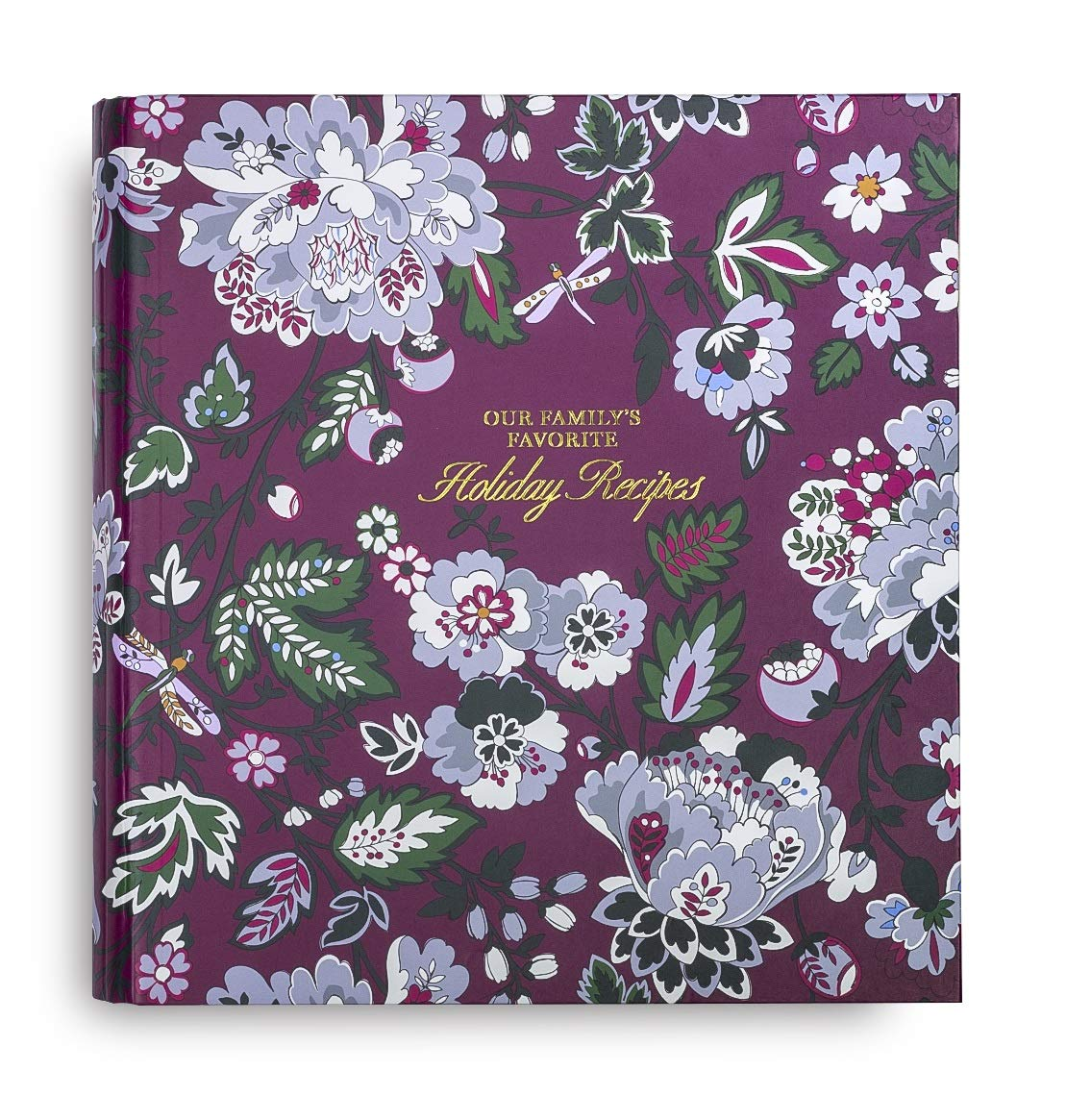 Vera Bradley Holiday Recipe Keeper Ring Binder, Bordeaux Blossoms by Vera Bradley