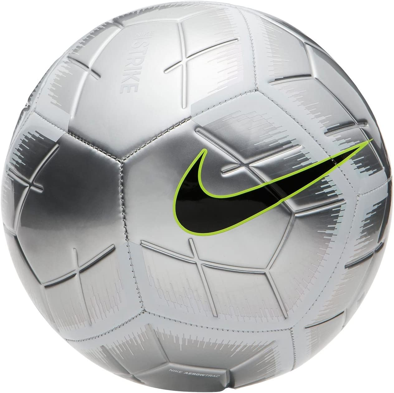 Nike Balón de Futbol Strike Plata-Verde: Amazon.es: Deportes y ...