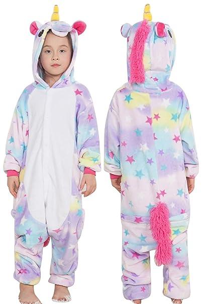 bf4c28da5e JYUAN Unisex Adult Animal Onesie Pajamas Unicorn Cosplay Christmas  Halloween Costume Sleepwear for Women Men