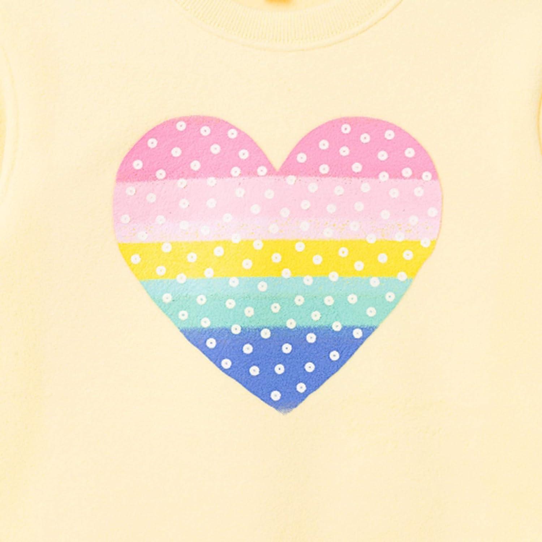 bossini Girls Sweatshirt Lovely Heart Design Polar Fleece Top Size 3T-16