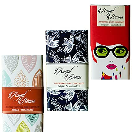 b162ee2de44 Royal Beans Chocolate - Artisan 70% Dark Chocolate Bars (Pack of 3 ...