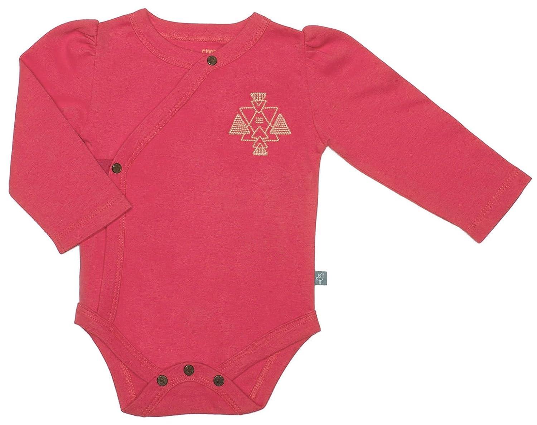Finn + Emma Organic Cotton Long Sleeve Bodysuit Onesie for Baby Boy Or Girl - Pool Blue, 0-3 Months