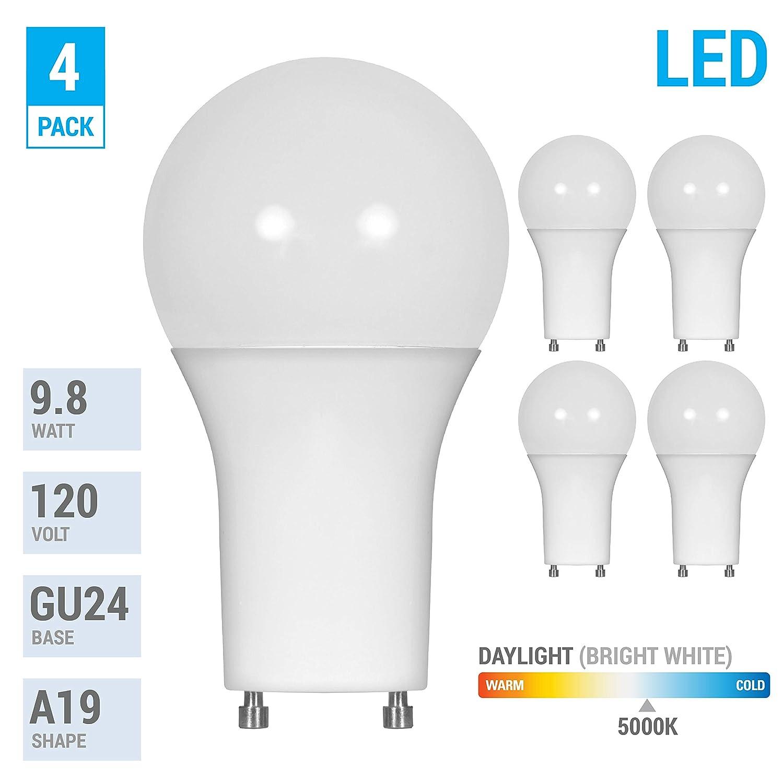 LED GU24 A19 Light Bulbs 60 Watt Equivalent, 9.5 Watt  )
