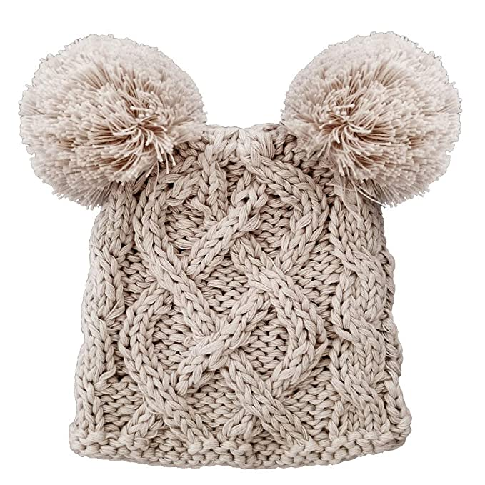 2b6360821 Huggalugs Baby Cable Knit Pom Pom Newborn Girl Boy Hospital Hat in 3 Color  Choices