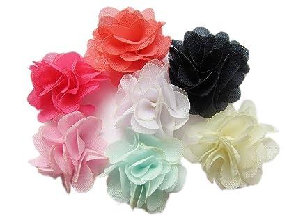 Amazon.com  YYCRAFT Pack of 30 Chiffon Flower 1