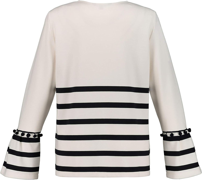 Capuche 727848 Ulla Popken Femme Grandes Tailles Sweat-Shirt Paillettes r/éversibles