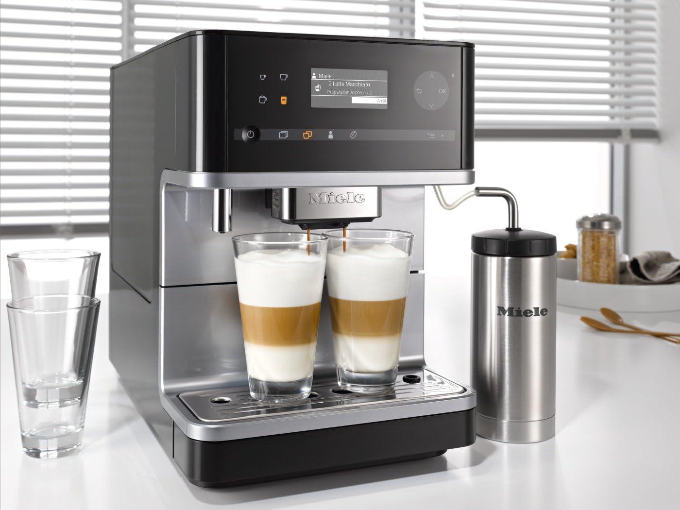 Miele CM 6300 cafetera espresso automática Hervidor de taza negro: Amazon.es: Hogar