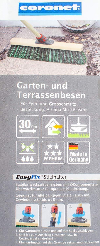 und Terrassenbesen 235075 Stra/ßenbesen Kehrbesen 30 cm ohne Stiel Garten
