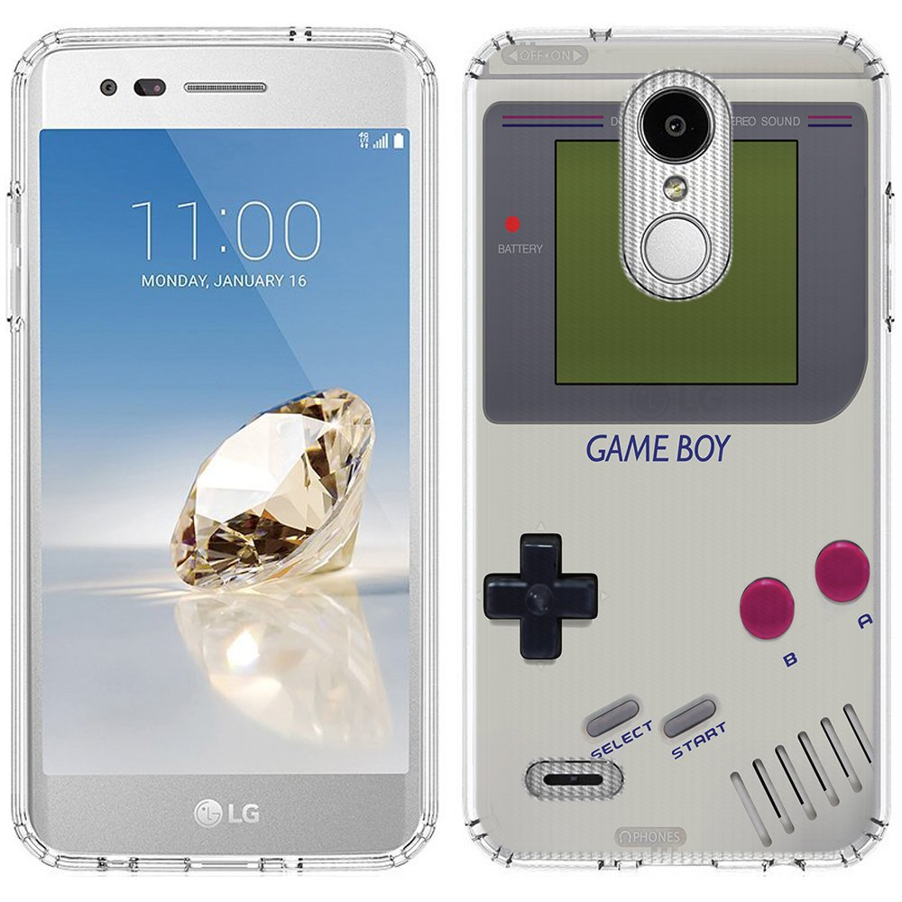 LG Aristo 2 Case [Pink GameBoy](Clear) PaletteShield Flexible Slim TPU skin  phone cover (fit LG Aristo 2/Tribute Dynasty)